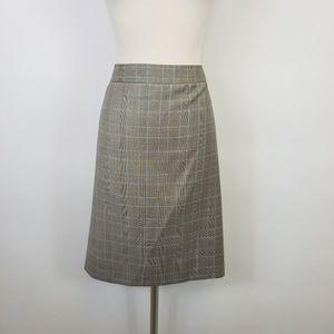 Brooks Brothers Plaid Wool Career Skirt